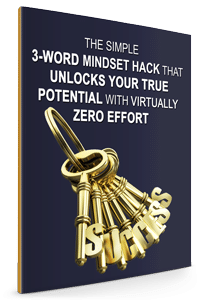 3 word mindset blue book cover