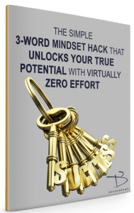 Gray Book Cover 3 Word Mindset Hack
