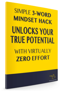 Book cover of 3 word mindset hack