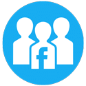 Circular Facebook Groups Logo on DevonBrown.com