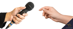 passing microphone from one hand to another